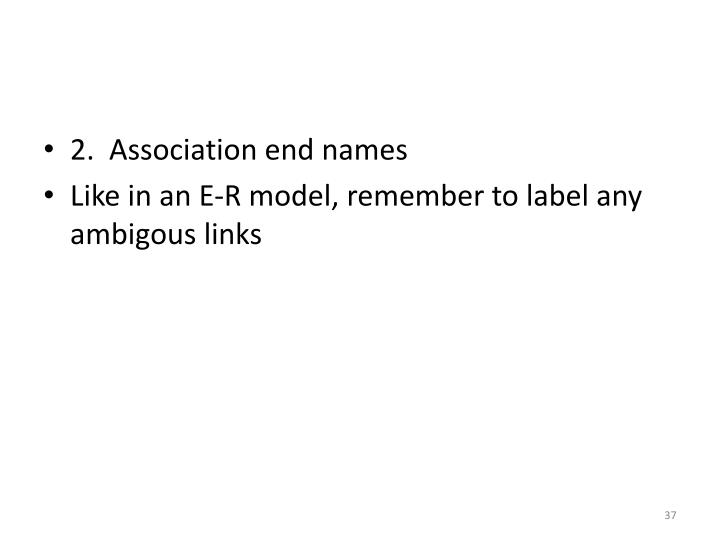 2.  Association end names