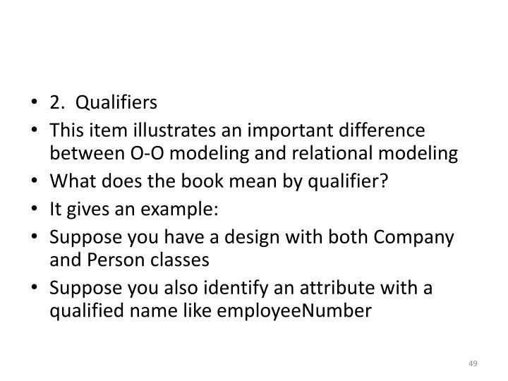 2.  Qualifiers