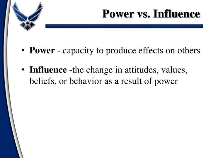 Power vs. Influence