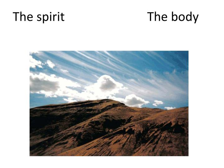 The spirit				The body