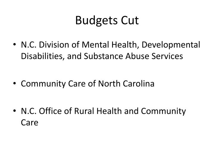 Budgets Cut