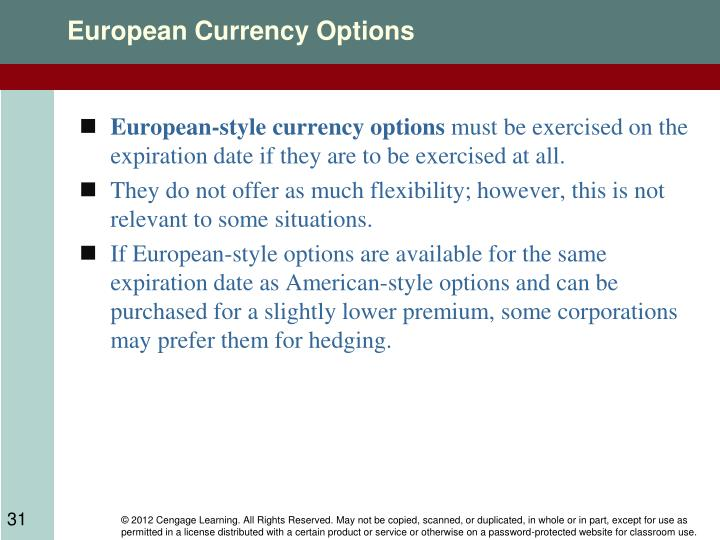 European Currency Options