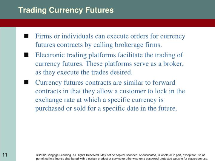 Trading Currency Futures
