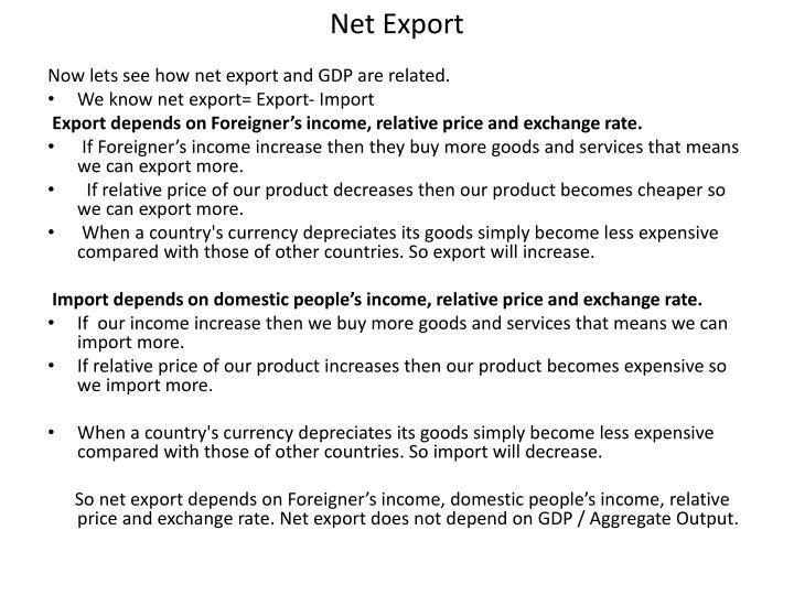 Net Export
