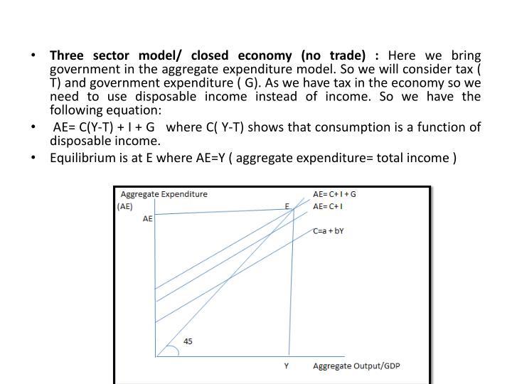Three sector model/ closed economy (no trade) :
