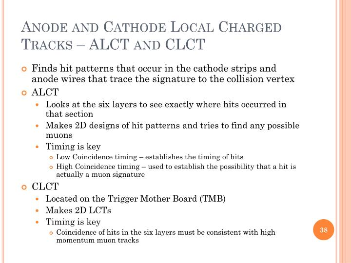 Anode and Cathode Local Charged Tracks – ALCT and CLCT