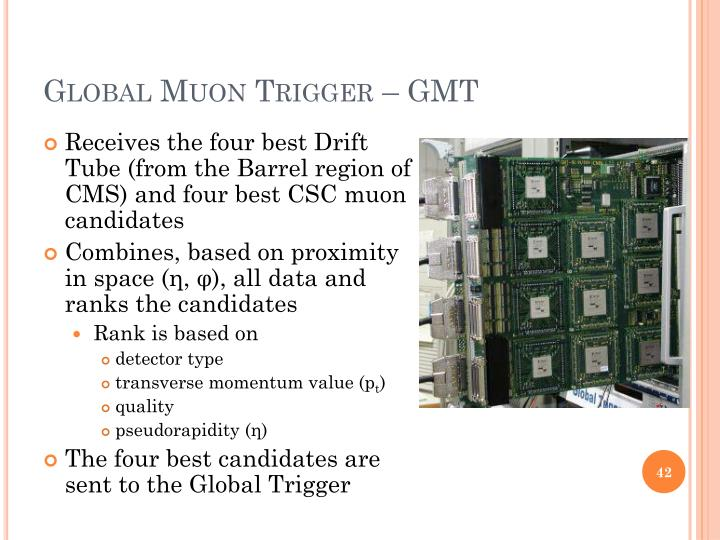 Global Muon Trigger – GMT