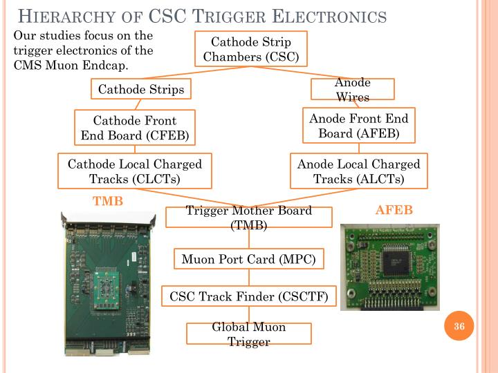 Hierarchy of CSC Trigger Electronics