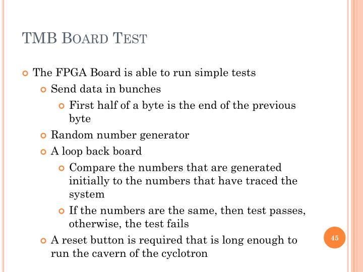 TMB Board Test