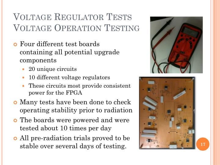 Voltage Regulator Tests