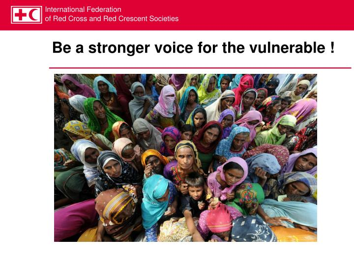 Be a stronger voice for the vulnerable !