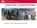 disaster relief fundamental principles