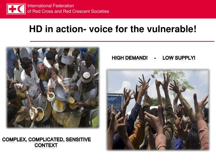 HD in action- voice for the vulnerable!