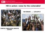 hd in action voice for the vulnerable