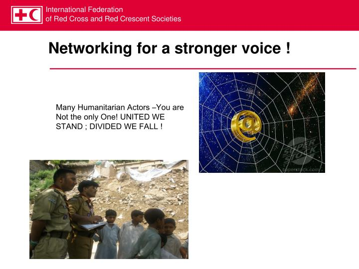 Networking for a stronger voice !