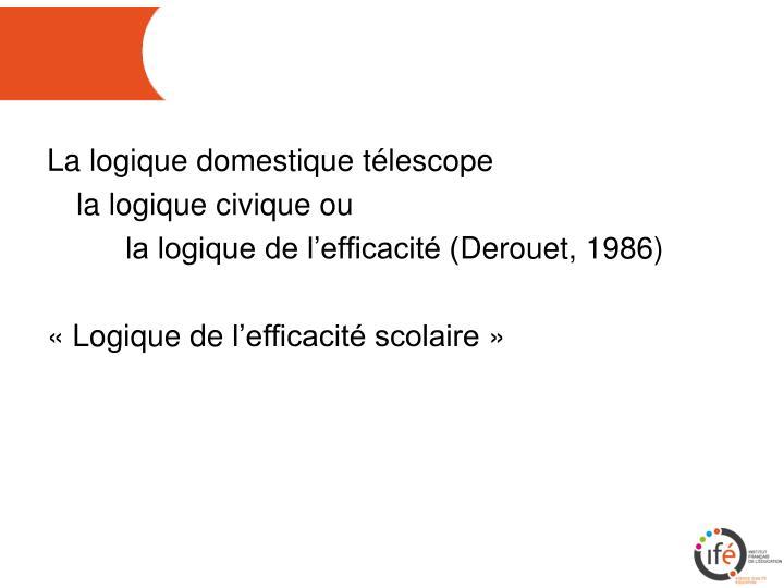 La logique domestique télescope