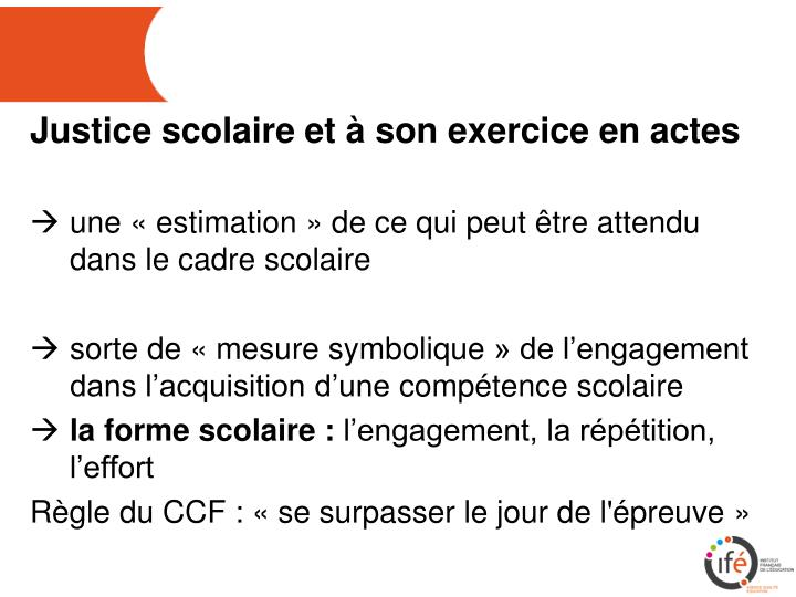 Justice scolaire