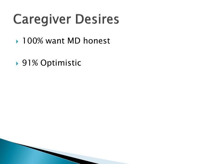 Caregiver Desires