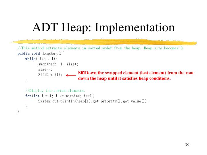 ADT Heap: Implementation