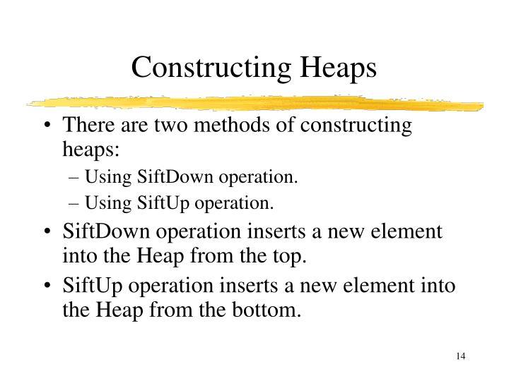 Constructing Heaps
