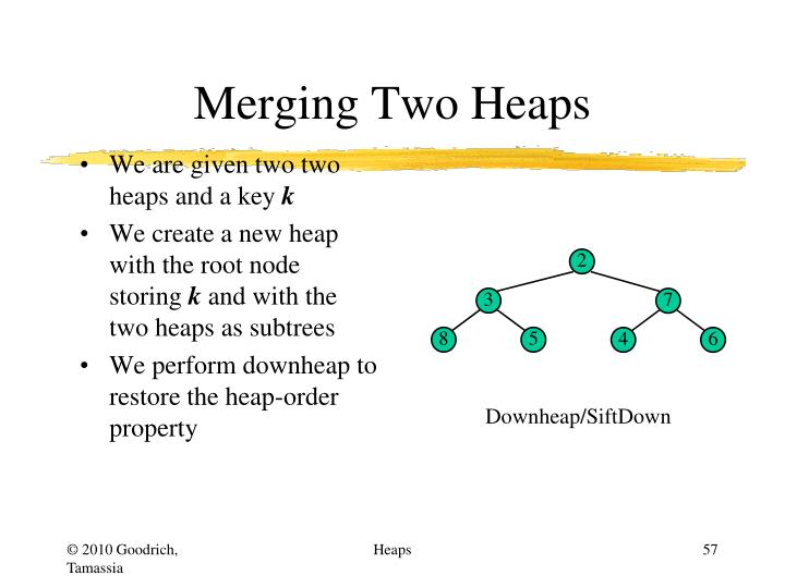 Merging Two Heaps