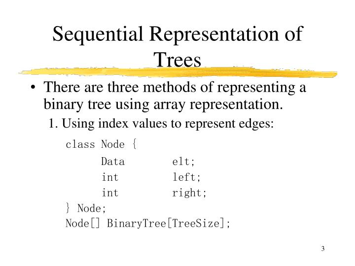 Sequential representation of trees
