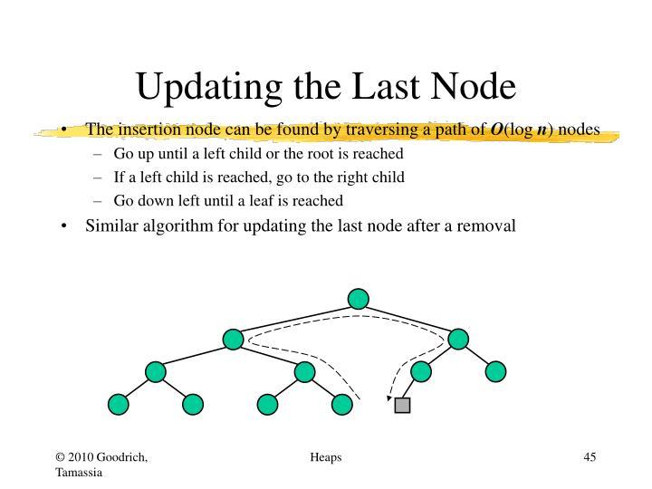 Updating the Last Node