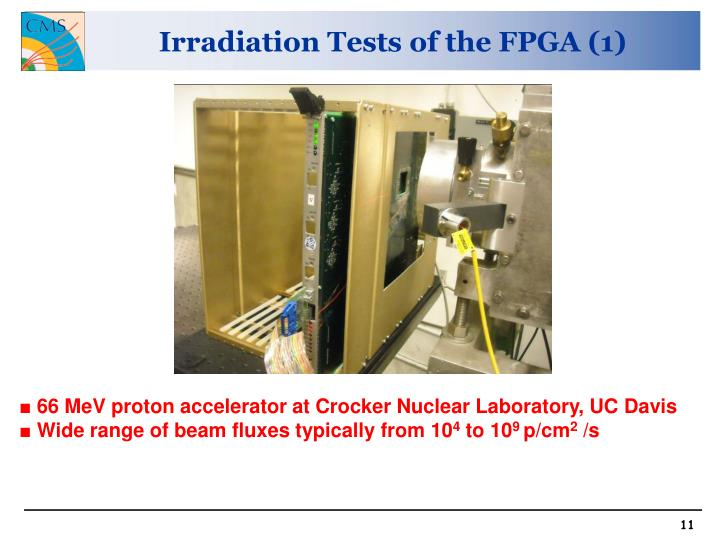 Irradiation Tests of the FPGA (1)