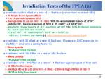 irradiation tests of the fpga 2