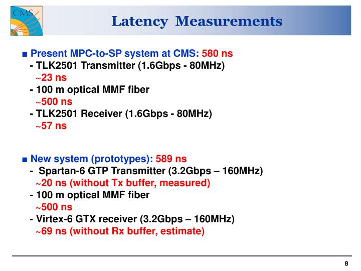 Latency  Measurements