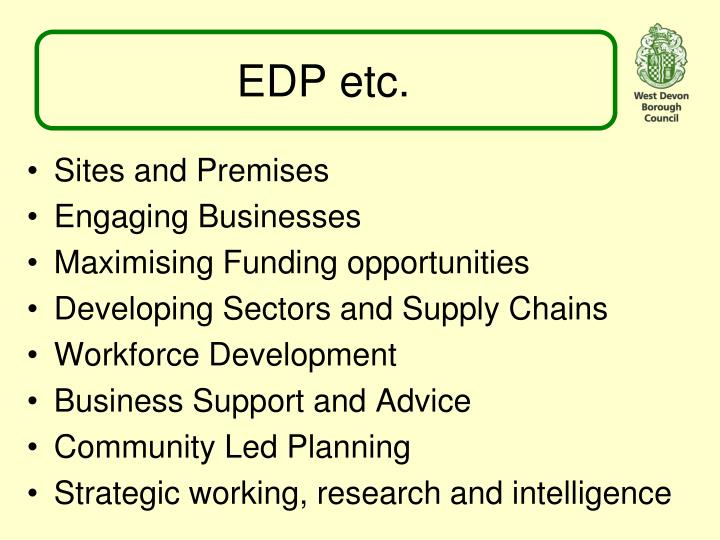 EDP etc.