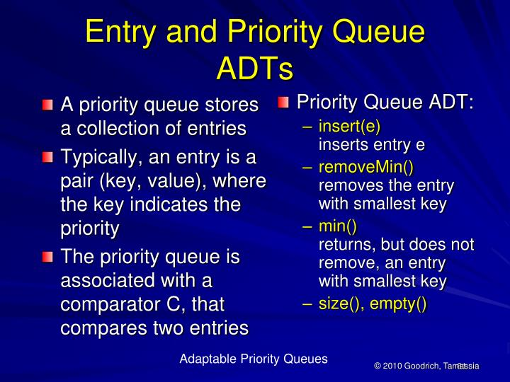 Adaptable Priority Queues
