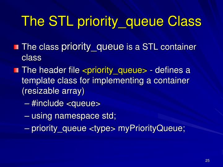 The STL priority_queue Class