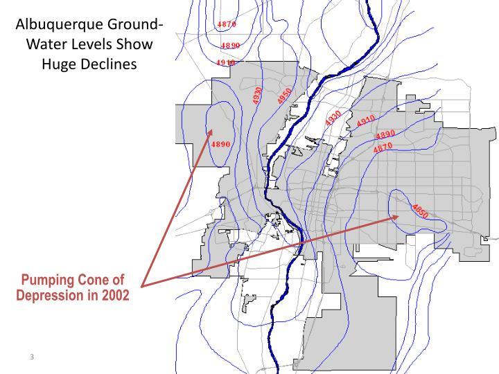 Albuquerque Ground-Water Levels Show Huge Declines