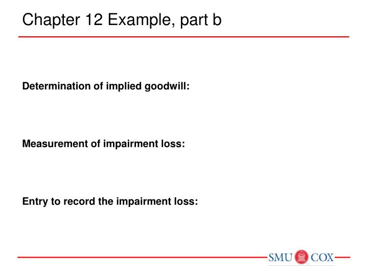 Chapter 12 Example, part b