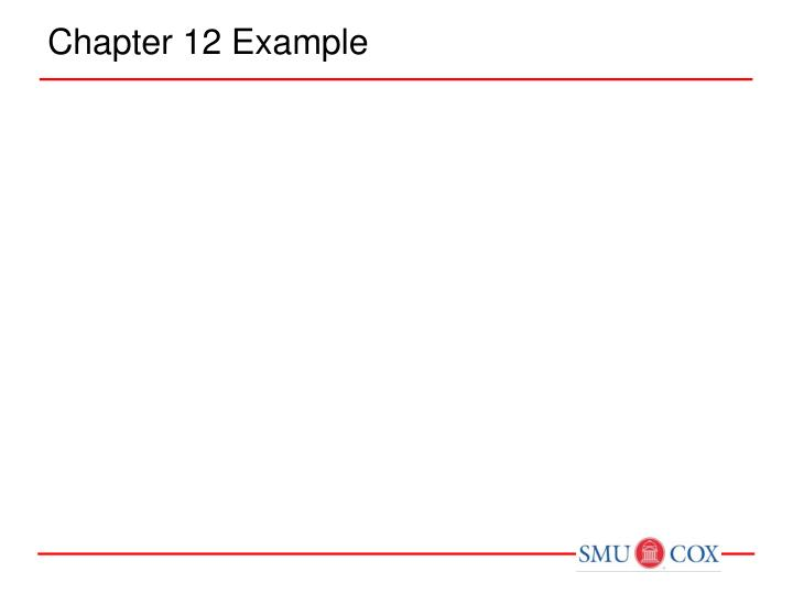 Chapter 12 Example