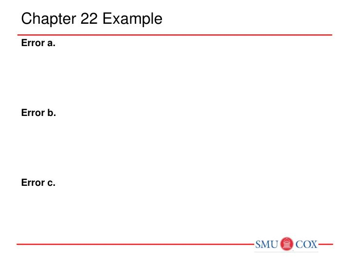 Chapter 22 Example