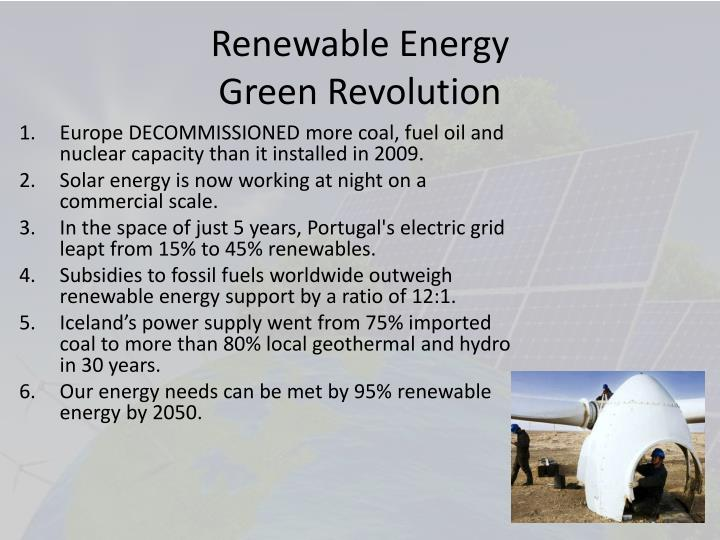 Renewable energy green revolution
