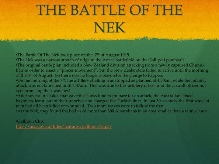 THE BATTLE OF THE NEK