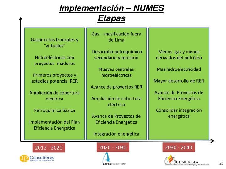 Implementación – NUMES