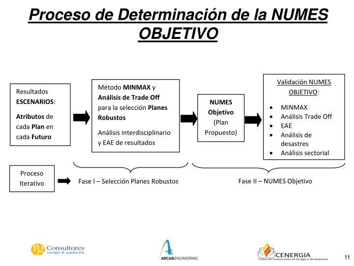 Proceso de Determinación de la NUMES OBJETIVO