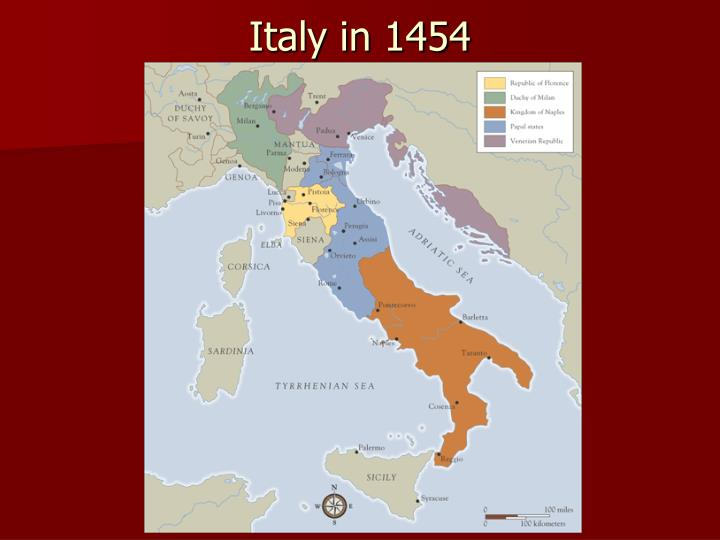 Italy in 1454