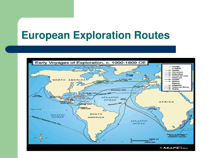 European Exploration Routes