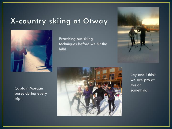 X country skiing at otway