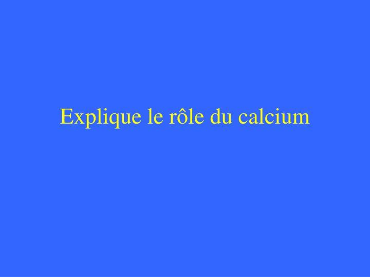 Explique le rôle du calcium