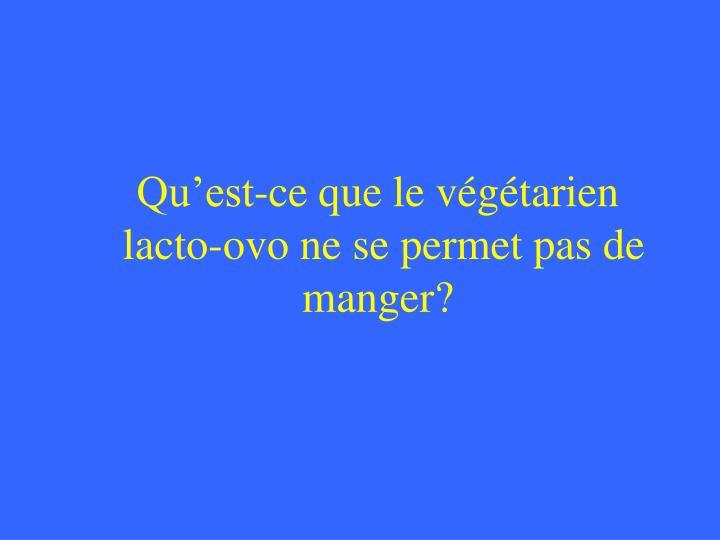 Qu'est-ce que le végétarien