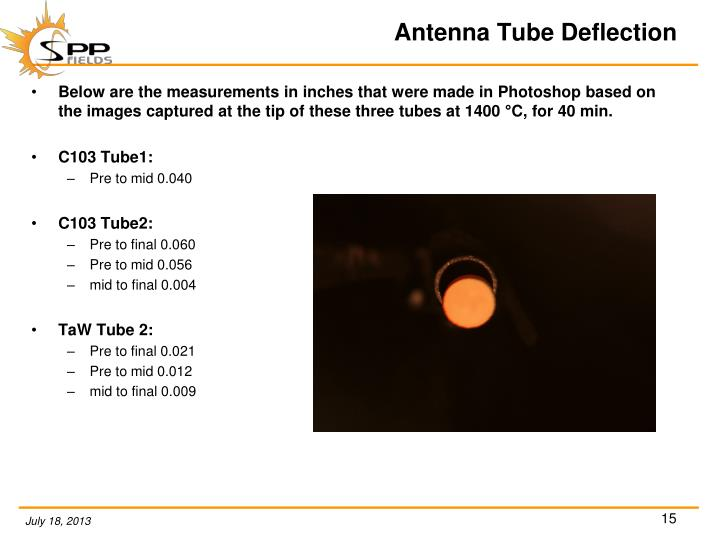 Antenna Tube Deflection