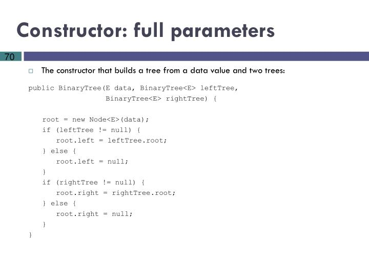Constructor: full parameters