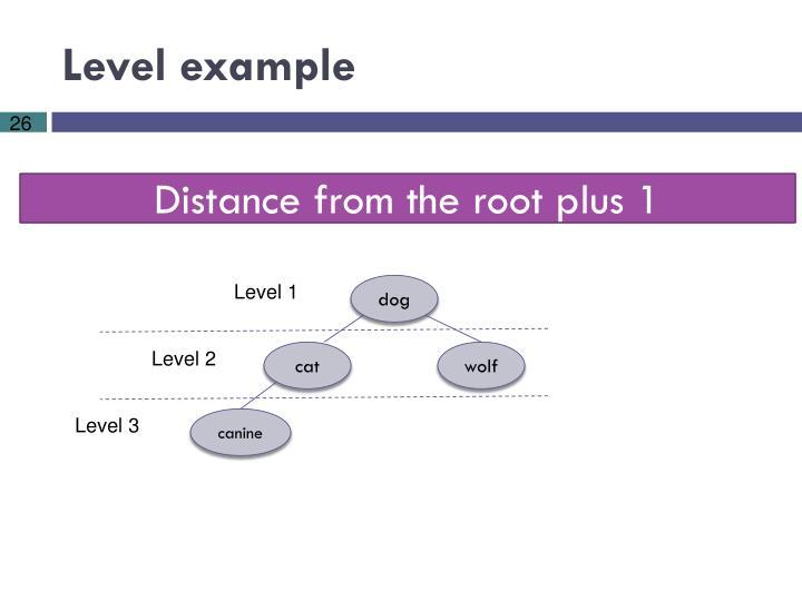 Level example