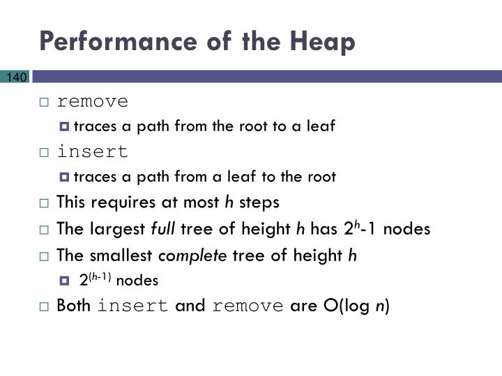 Performance of the Heap